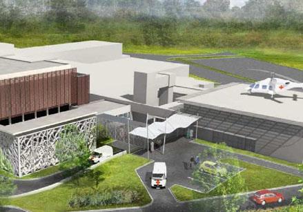 Langon 33 extension centre hospitalier b timent aca for Etude de batiment
